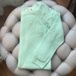 Forever 21 Pearl Sweater